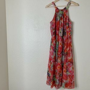 Sundance Silk Flowers Halter Dress Midi Boho M